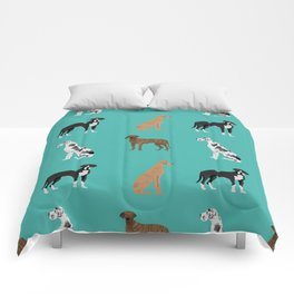 Great Danes mixed coats dog breed must have pure breed lovers Comforters