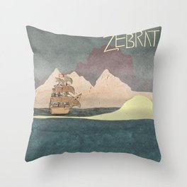 Ship - inspired by Zebrat Throw Pillow