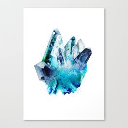 Watercolor Gemstone Canvas Print