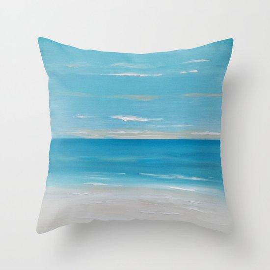 Coastal Seascape Throw Pillow