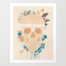 Skull Indian Art Print