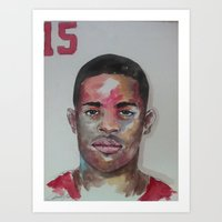 49ers Art Prints featuring Crabtree- 49ers by Anthonylanza