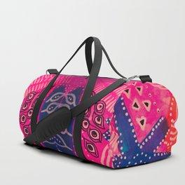 Coral Pink Boho Duffle Bag