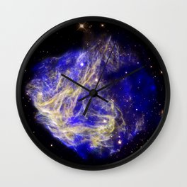 1866. Stellar Shrapnel Seen in Aftermath of Explosion - A supernova remnant located in the Large Magellenic Cloud. Wall Clock