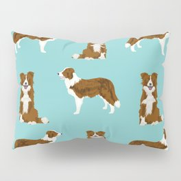 Border Collie red coat dog breed pet friendly gifts for collie lovers Pillow Sham