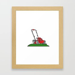 Lawnmower Front Isolated Cartoon Framed Art Print