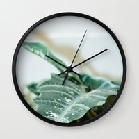 plant Wall Clocks featuring Plant by Katalyst