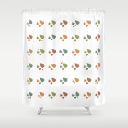 The leaves fall Shower Curtain
