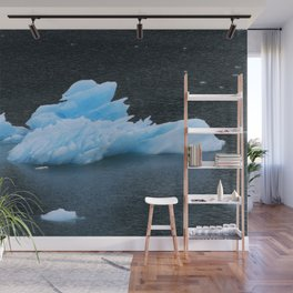 Blue Icebergs Of Alaska Glacier Wall Mural