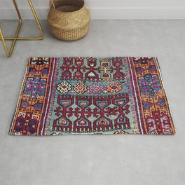 Elazig  Antique Tribal Kurdish Niche Carpet Print Rug