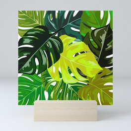 Monstera Leaves Mini Art Print