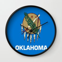 flag of oklahoma-Oklahoma,south,Oklahoman,Okie, usa,america,Tulsa,Norman,Broken Arrow Wall Clock
