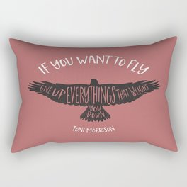 Motivation quote 2 Rectangular Pillow
