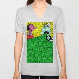 TOO MUCH SPINACH. Unisex V-Neck