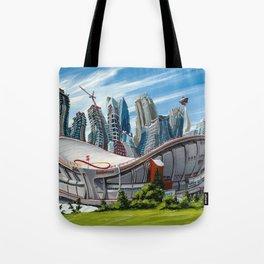 Downtown Calgary Skyline Tote Bag