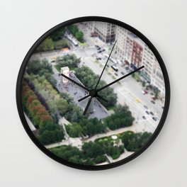 Crown Fountain Millennium Park Chicago Illinois Color Photo Wall Clock