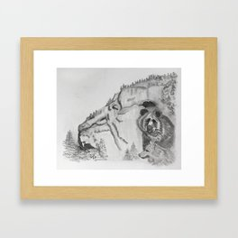The Fairytale about the Wolf, Bear, and the Lion Framed Art Print