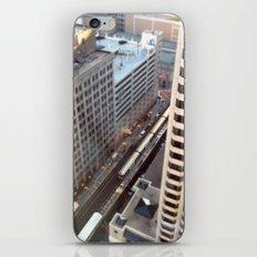 Chicago El Train Tracks Original Color Photo iPhone & iPod Skin