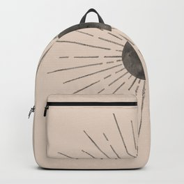 Abstract beige and black sun Backpack