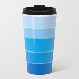 Kent - blue ombre brush strokes art Travel Mug