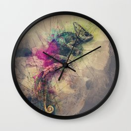 When i Dream of Chameleon Wall Clock