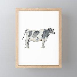 Cow, Watercolor Painting, Rustic Farmhouse Framed Mini Art Print