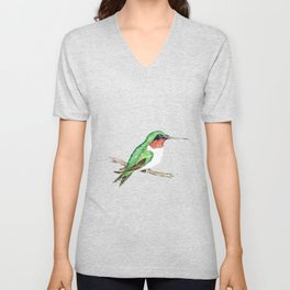 Hummingbird Jewel Unisex V-Neck