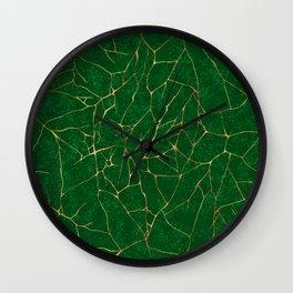 Kintsugi Emerald Green Wall Clock