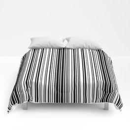 Barcode Pattern Comforters