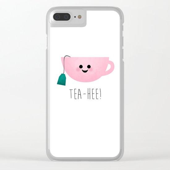 Tea-Hee Clear iPhone Case