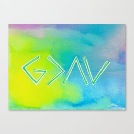 God Is Greater - GREEN Canvas Print
