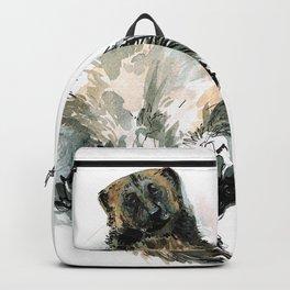 Sleepy Gulo gulo watercolor Backpack