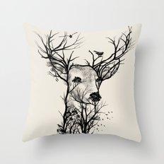 Wild Buck Throw Pillow