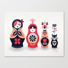 Russian Nesting Dolls – Hot Pink Canvas Print