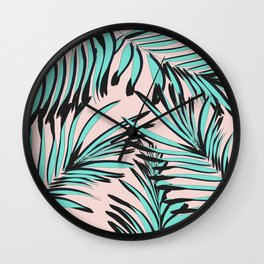 Tropical print Wall Clock