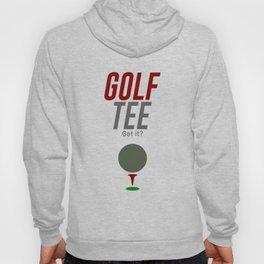 Golf Tee Pun Golfing Game Swing Ball Hoody