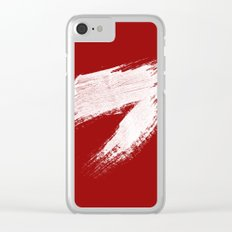 ANGER - red palette Clear iPhone Case