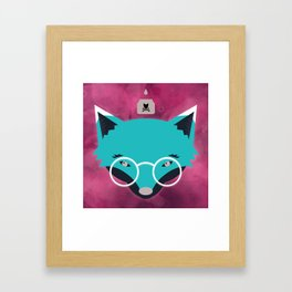 Smart Fox Framed Art Print