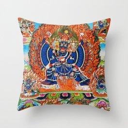 Tantric Buddhist Vajrabhairava Deity 3 Throw Pillow