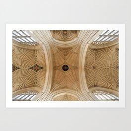 Abbey Ceiling Art Print