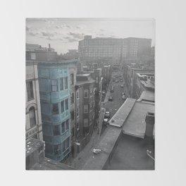 Boston Roof Top Throw Blanket