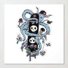 Octopus Skate Color Canvas Print