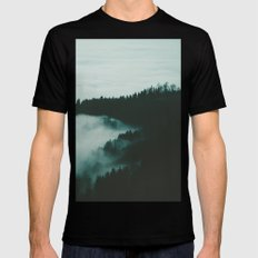 dark fog Black Mens Fitted Tee X-LARGE