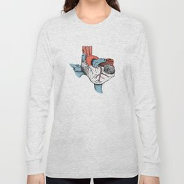 The Heart of Texas (Red, White and Blue) Long Sleeve T-shirt