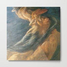 Paolo e Francesca (Swept Away) by Gaetano Previati Metal Print