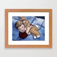 Boy Sleeping Framed Art Print
