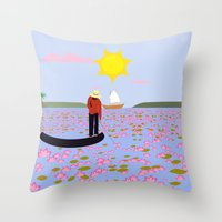vietnam Throw Pillows featuring Vietnam by Design4u Studio