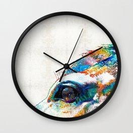 Colorful Horse Art - A Gentle Sol - Sharon Cummings Wall Clock