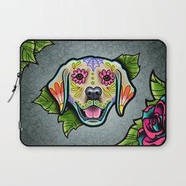 Golden Retriever - Day of the Dead Sugar Skull Dog Laptop Sleeve