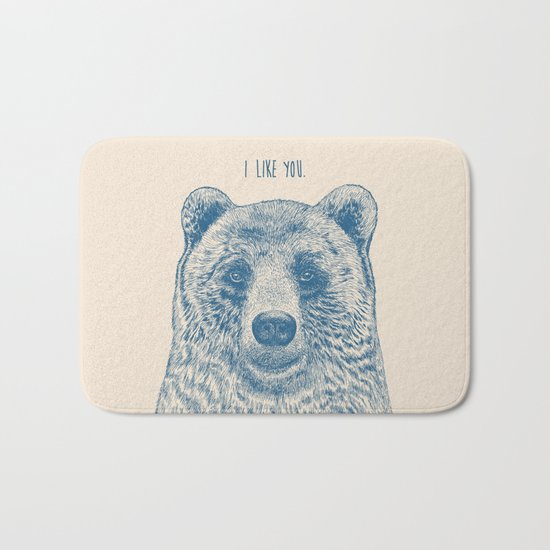 Bear (Ivory) Bath Mat